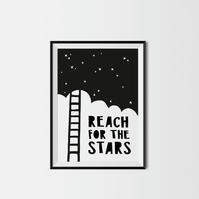 Reach For The Stars A4 Kids Print