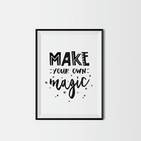 Make Your Own Magic A4 Kids Print