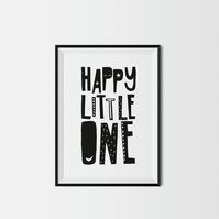 Happy Little One A4 Kids Print