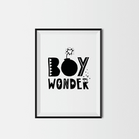 Boy Wonder A4 Kids Print