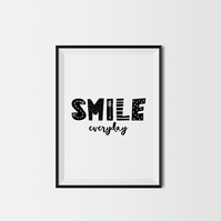 Smile Every Day A4 Kids Print
