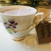 Teacup Candle - Devon Violet