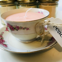 Teacup Candle - Peach