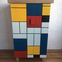 MONDRIAN STYLE CHILD'S CUPBOARD