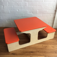 CHILD'S CHILDREN'S KIDS DOUBLE TODDLER TABLE CHAIR DESK