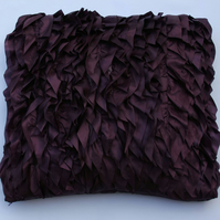"Decorative Cushion with frills 18x18""(45x45cm) purple taffeta fabric"