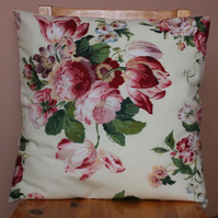 "Classic, floral pattern cushion cover 18x18"" (45cmx45cm)"