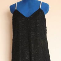 Lace, little black dress, size M (UK 12)