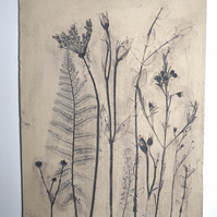 Large wild flower wall hanging