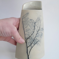 Wild leaf printed vessel