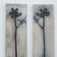 A pair of wildflower tiles