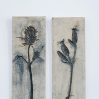 Pair of wildflower tiles
