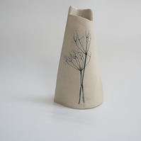 Cow parsley printed vase.