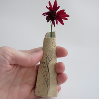 Miniature rustic one flower vase
