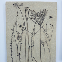 Rustic wildflower ceramic tile