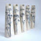 1 X Tall slim cow parsley printed vase