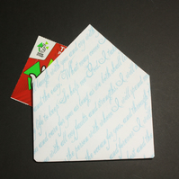 20 Origami Envelopes in a Pale Blue Handwriting Design