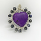 Wire wrapped purple gemstone heart