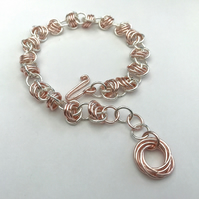 Chainmail bracelet with infinity charm