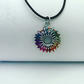 Colour wheel bright chainmail pendant