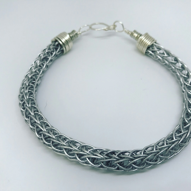 Unisex Viking knit wire weave bracelet