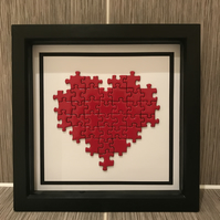 Small Heart Puzzle Frame