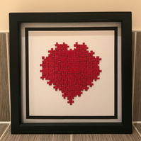 Large Heart Puzzle Frame