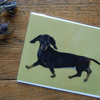 Silly Sausage Dog Greeting Card