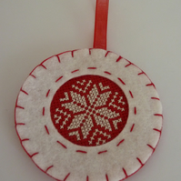 Christmas Stitch Felt Decoration