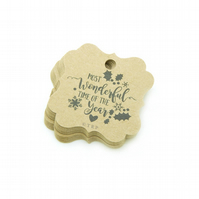 Most Wonderful Time of the Year, 5.2cm Bracket Tags, Christmas Gift Tags XM476