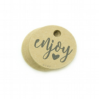 "Enjoy, 1.5"" Round Tags, Enjoy Gift Tags, Packaging Tags, Enjoy Tags EN392"