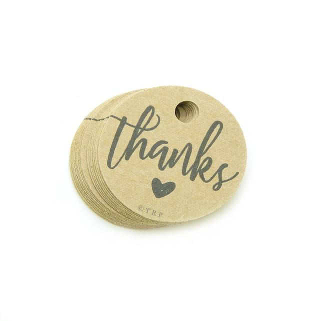 "Thanks, 1.5"" Round Tags, Favour Tags, Packaging Tags, Thanks Gift Tags TK407"