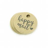 "Happy Mail, 1.5"" Round Tags, Product Packaging Tags, Happy Mail Tags HP459"