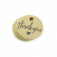 "Thank You, 1.5"" Round Tags, Thank You Tags, Favour Tags, Packaging Tags TY554"