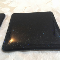 Handcrafted fused glass coaster