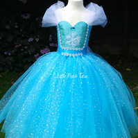 Elsa Inspired Super Sparkly Tutu Dress