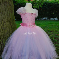 Pink Princess Flower Girl Tutu Dress