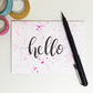 Hello Card, Note Card, Blank Card, Greeting Card