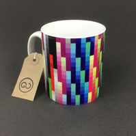 'PROFILR' ceramic coffee mug. By The Good Continuation Design Company.