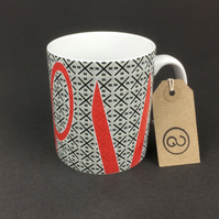 'CTRLX' ceramic coffee mug. By The Good Continuation Design Company.