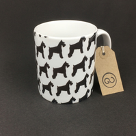 'SCHNAUZER' ceramic coffee mug. Miniature Schnauzer Dog.