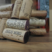 Set of 4 Upcycled Wine Cork Coasters