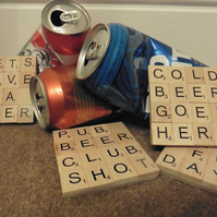 Set of 4 Scrabble Beer Coasters