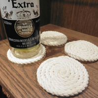 Set of 4 small handmade rope coasters