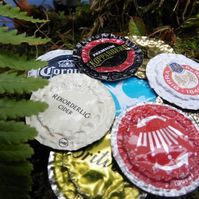 Set of 5 handmade bottle top coasters