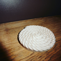 Handcrafted small Rope drink coaster