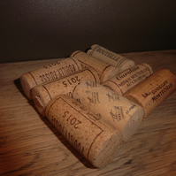 Handmade wine cork drinking coaster