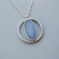 Handmade Sterling Silver Opal Pendant London Hallmarked