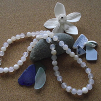 Grey and Botswana Agate necklace