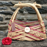 Woven Willow Zarzo Basket or Handbag - made in Wales